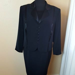 🎄 Oleg Cassini Black Tie Dress & Jacket
